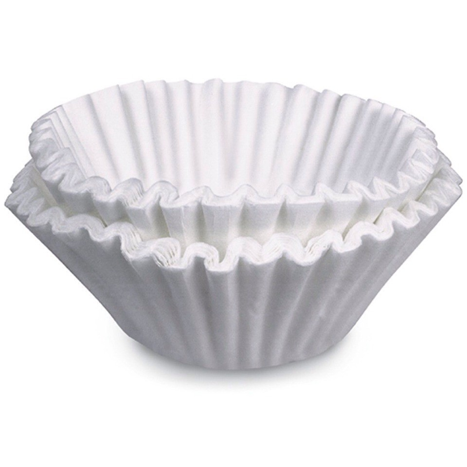 use coffee filter to clean instead of bounty wipes